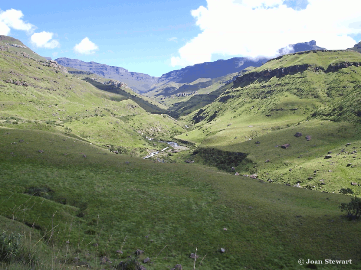 Looking up Sani Pass