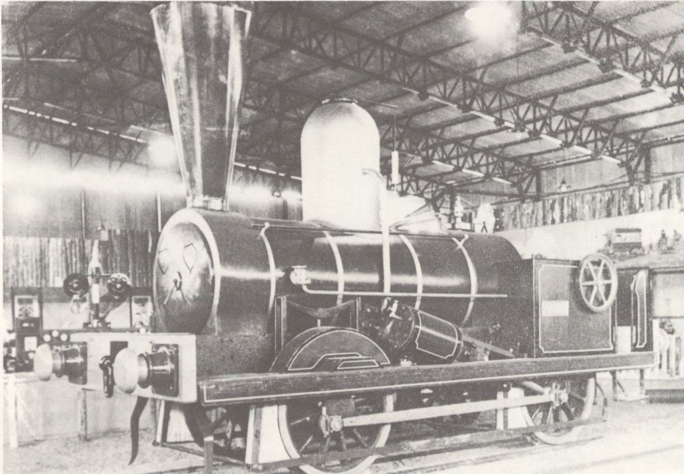 The 'Natal' steam locomotive at the time of her restoration